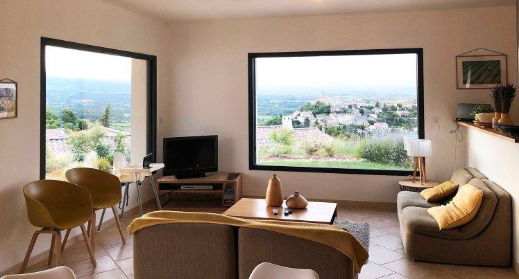 Het heerlijke huisje met zicht op Mont Ventoux en Crillon